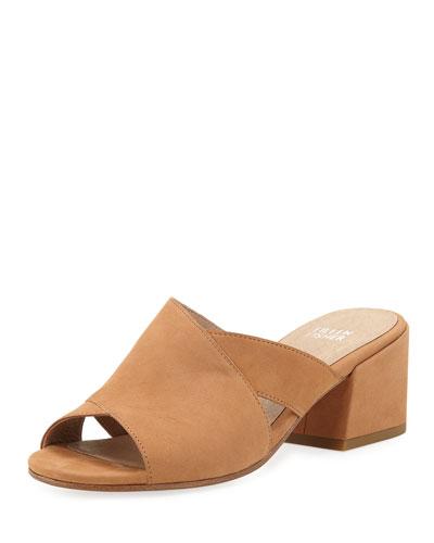 Haven Nubuck Leather Crisscross Slide Sandals