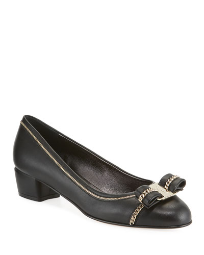 Vara Lux Chain-Trim Pumps