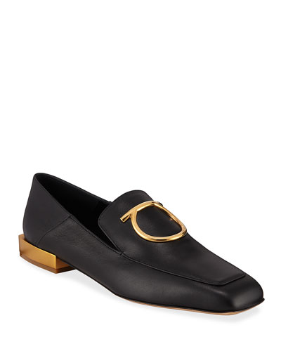 Lana Mirror-Heel Step Down Loafers