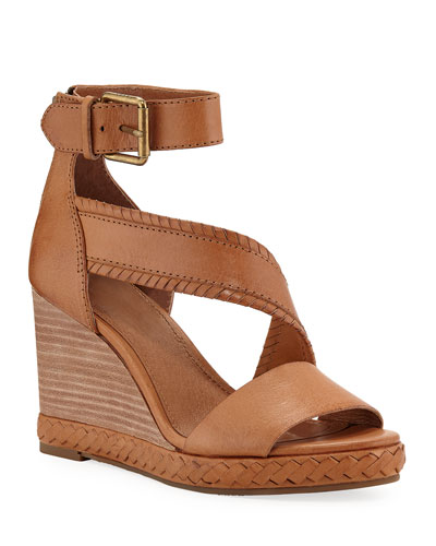 Riviana Leather Wedge Sandals