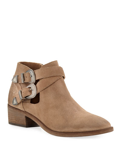 Ray Western Suede Ankle Booties