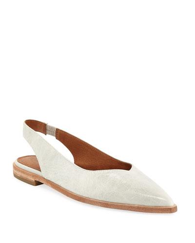 Kenzie Slingback Leather Flats