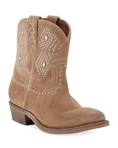 Billy Studded Suede Western Booties
