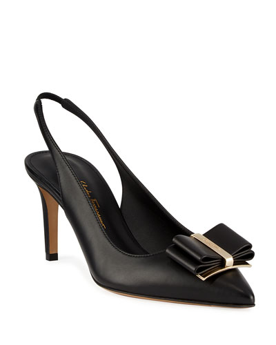 Zahir Point-Toe Bow Pumps