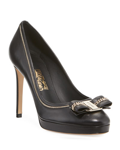Osimo Lux 1 Leather Platform Pumps
