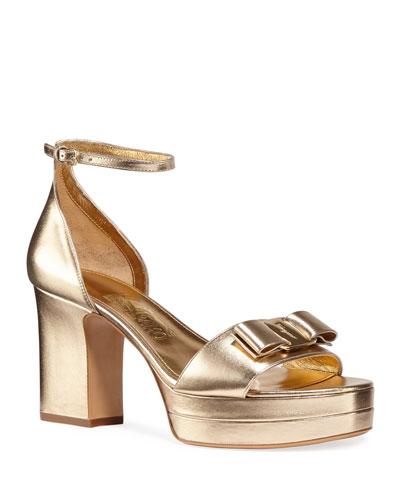 Eclipse Metallic Platform Sandals