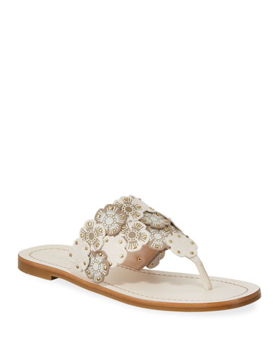 Lottie Link Tea Rose Flat Thong Sandals