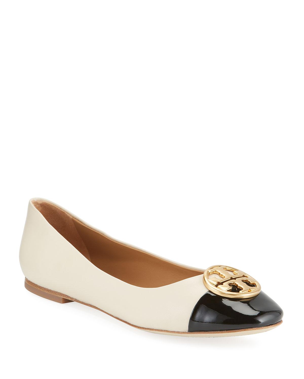 Chelsea Cap-Toe Leather Ballet Flats