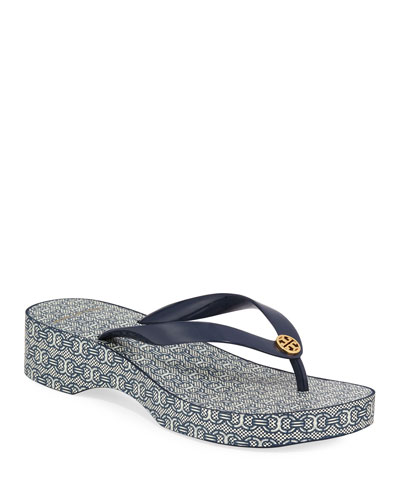 4df9e485f52104 Quick Look. Tory Burch · Cutout Wedge Flip-Flop Sandals