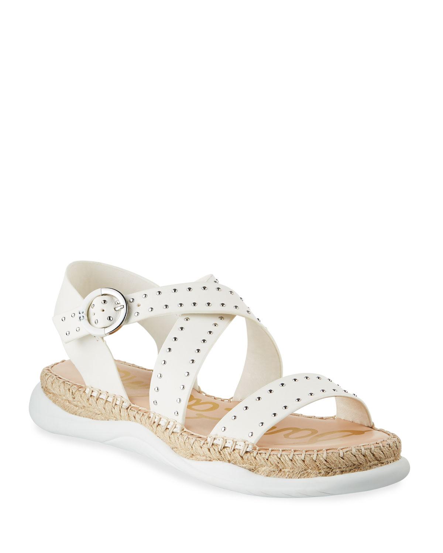 Janette Studded Leather Espadrille Sandals