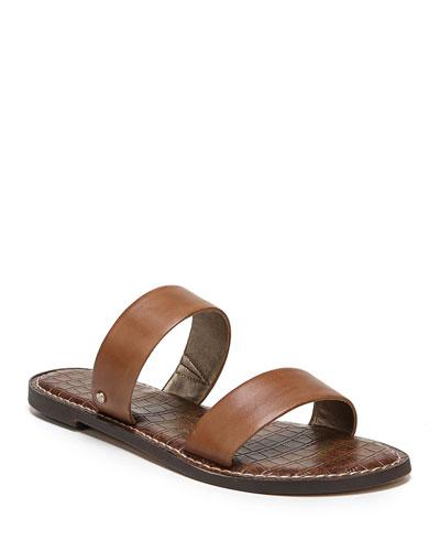 Gala Leather Flat Slide Sandals