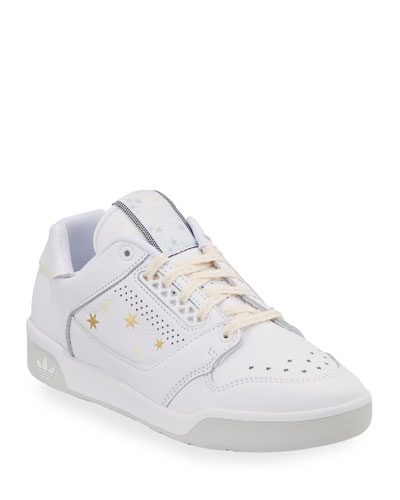 Signature Leather Star-Print Sneakers