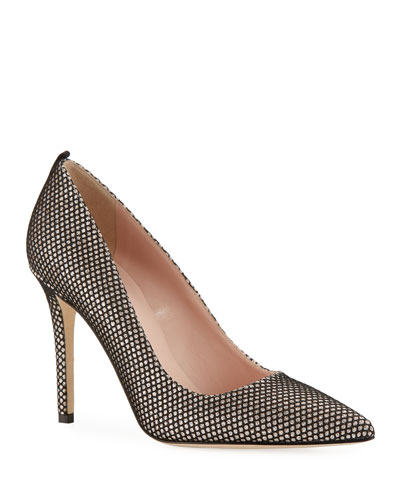 Fawn Sparkle Mesh Pumps