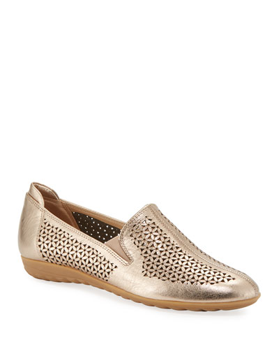 Bev Metallic Cutout Sneaker Flats, Rose Gold