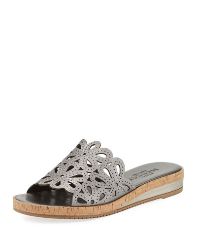 Senta Metallic Cutout Comfort Sandals