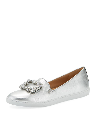 Frieda Ornamented Metallic Sneakers