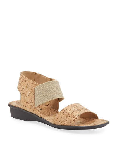 Elki Demi-Wedge Cork Sandals