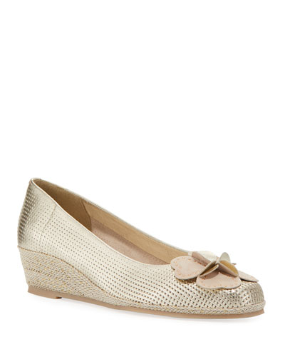 Mel Metallic Wedge Espadrilles