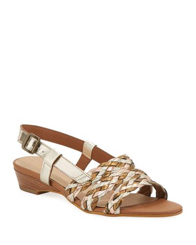 201c9fad99e Quick Look. Sesto Meucci · Gia Woven Metallic Slingback Sandals