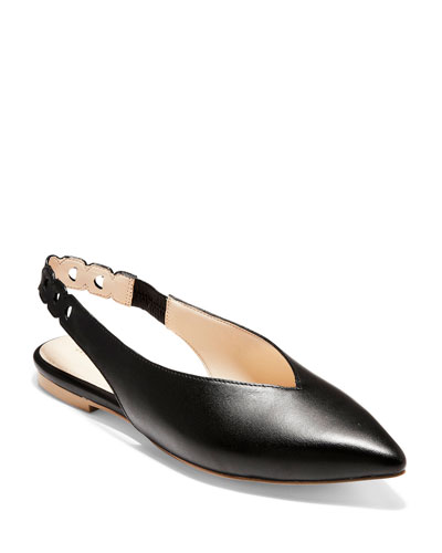 Merrit Grand Smooth Leather Skimmer Flats
