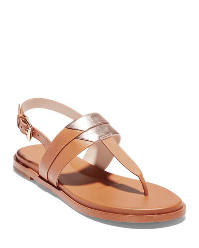Ainslee Grand 2-Tone T-Strap Sandals
