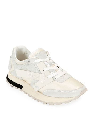 HG Runner Low-Top Suede Sneakers, White
