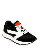 Off-White HG Runner Low-Top Suede Sneakers, Black