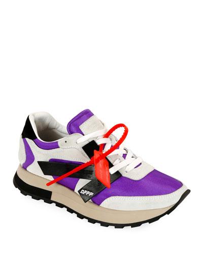 HG Runner Low-Top Suede Sneakers, Purple