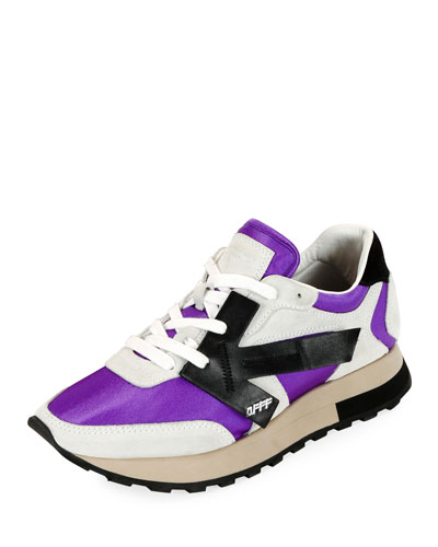 HG Runner Low-Top Suede Sneakers, Purple