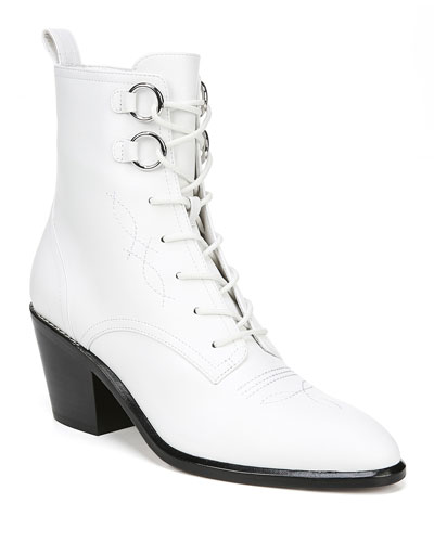 Dakota Leather Lace-Up Boots