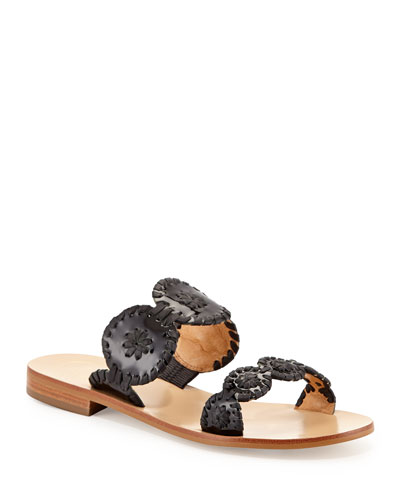 Lauren Double-Strap Sandals, Black