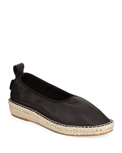 CloudFeel Flat Leather Espadrilles