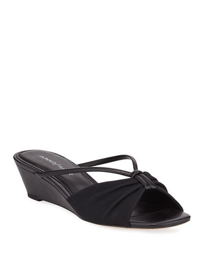 Andra Strappy Demi-Wedge Sandals