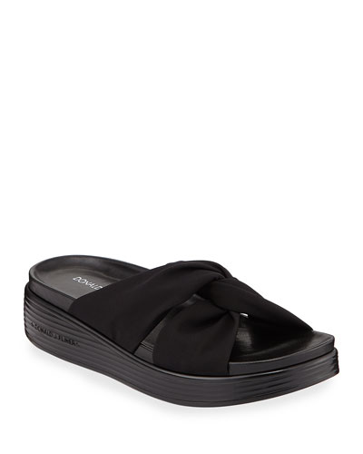 Freea Knotted Platform Slide Sandals