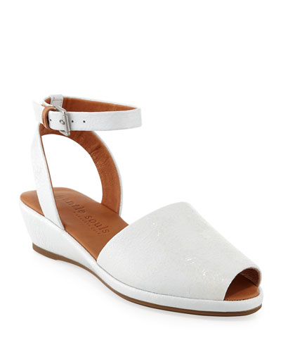 Lily Patent Demi-Wedge Sandals