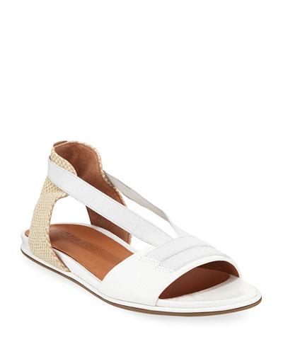 Lark Elastic Flat Patent Sandals