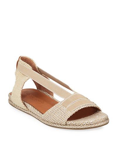 Lark Elastic Woven Flat Sandals