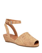 Gentle Souls Lily Cork Wedge Sandals