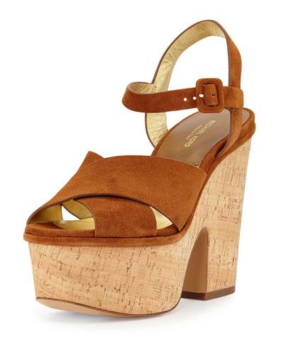 Hilary Suede Platform Sandals