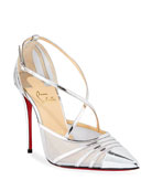 Christian Louboutin Theodorella Strappy Specchio Red Sole Pumps