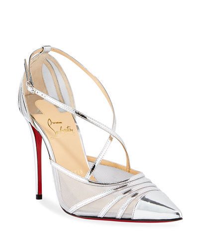 Theodorella Strappy Specchio Red Sole Pumps