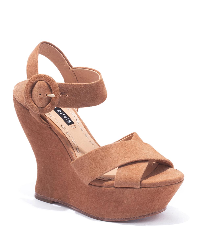 Jodiey Suede Wedge Sandals