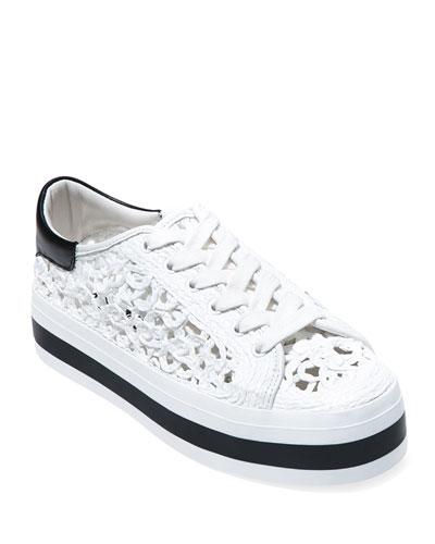 Emersyn Woven Platform Sneakers