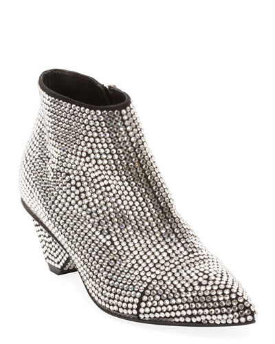 Lucky Suede Embellished Booties