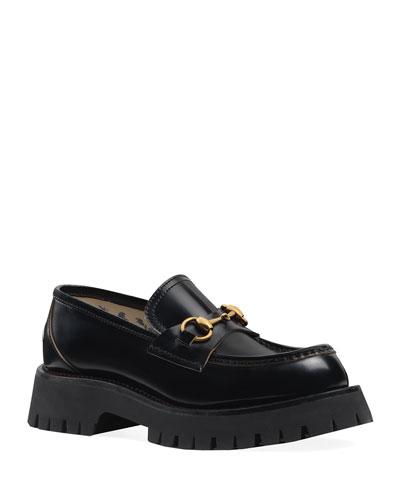 Django Leather Lug-Sole Loafers