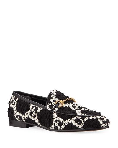 New Jordaan GG Tweed Horsebit Loafers