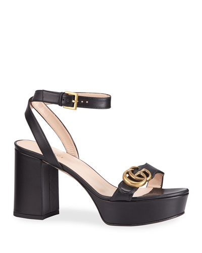 Marmont Ankle-Wrap Platform Sandals