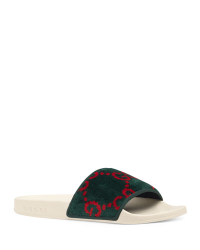 Pursuit Terry Cloth Logo Pool Slide Sandals