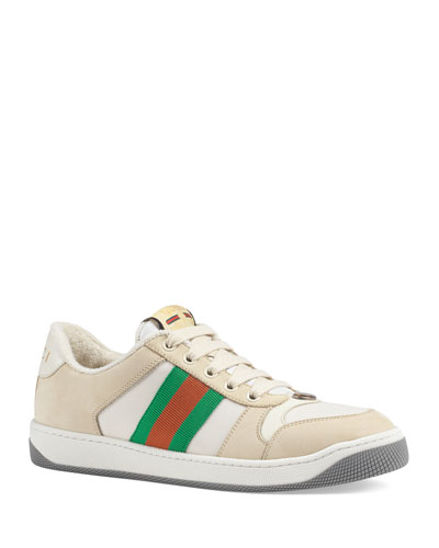 Screener Low-Top Leather Sneakers