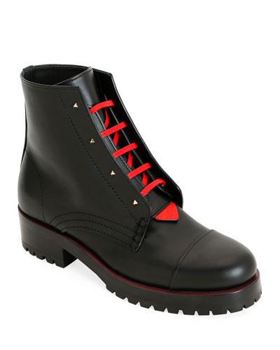 2040 Rouge Bond Combat Boots